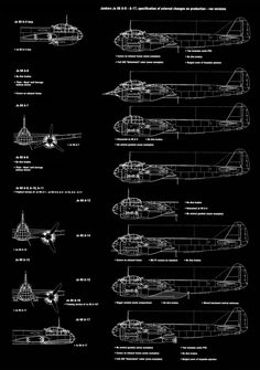 Asisbiz article Artwork by Kagero blue print 1.72 scale Junkers Ju 88 A 0 to A 17 production run side views 0B