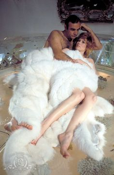 Jill St. John as Tiffany Case and Sean Connery as James Bond from Diamonds Are Forever