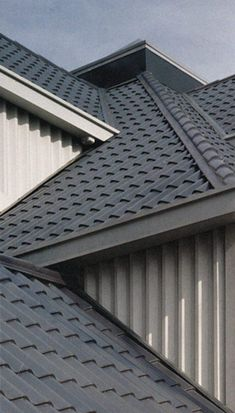stile metal spanish roof pictures Steel Metal Roof - Spanish Tile Look Roof Design, Tile Design, House Design, Steel Roofing, Roofing Felt, Roof Styles, Style Tile, House Roof, Types Of Houses