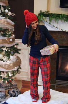 christmas pajamas.