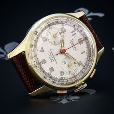 Professionally Restored DREFFA Geneve Vintage Chronograph Watch Landeron Cal. 51