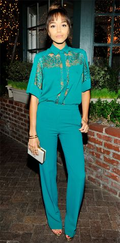 Look of the Day - November 16, 2014 - Ashley Madekwe in Elie Saab from #InStyle