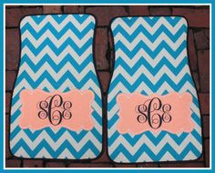 Personalized Car Mats Monogrammed Car Mats Custom by ChicMonogram