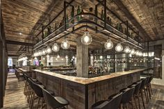 Mercato Restaurant (Shanghai) designed by Neri&Hu. Via the Retail Design Blog - above bar storage