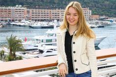 Princess Caroline of Monaco and Hanover's daughter Princess Alexandra of Hanover - Cheque for Princess Grace Foundation