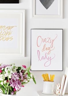 Crazy Dog Lady..What a wonderful colorful print that's perfect for any dog lover! At TrendyPet.com!