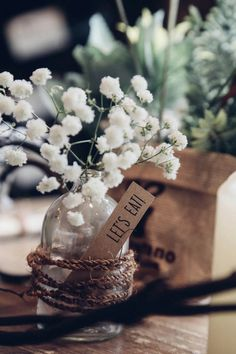 rustic ideas with baby breath