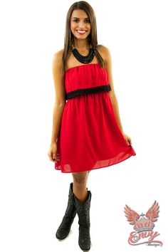 Bulldawg Bounce Ruffle Gameday Dress - This sassy southern style bulldawg bounce dress is an eye catcher for sure. It is the definition of gameday in south and sec football. Any georgia girl would look stunning in this simple, yet attention getting dress. This dress fits true to size and is length appropriate for most heights. It is also the true color of georgia bulldog red.  - available online at http://www.envyboutique.us/shop/bulldawg-bounce-ruffle-gameday-dress/ #Envy #B