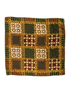 256085df596a Green and multicolor Chanel silk scarf with abstract print throughout and  rolled edges. Includes box