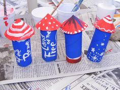 july fourth | Preschool Crafts for Kids*: 4th of July Toilet Paper Roll Rocket Craft
