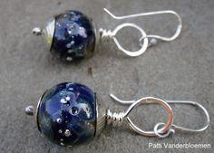 Night Skies  Lampwork and Sterling Silver by PattiVanderbloemen, $22.00