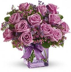 Teleflora's Morning Melody with Lavender Roses Flowers
