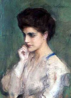 Teodor Axentowicz   Image: Teodor Axentowicz - Woman Deep in Thought