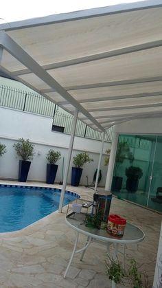 Cobertura Construida em area externa residencial para que voce desfrute o dia inteiro sem se preocupar com o mal tempo!