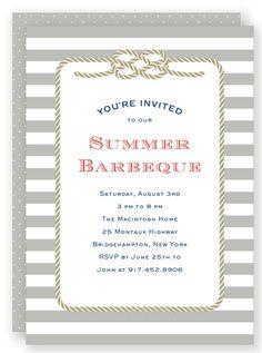 Summer BBQ Invitation