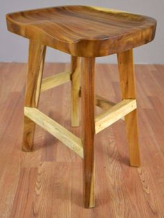 Solid Chamcha Wood Counter Height Stool