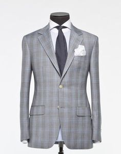 Tailored 2-Piece Suit - Fabric 3897 Check Grey 1