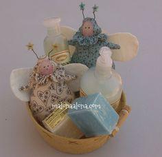 """Bolsitas-""""polilla""""  de lavanda, lavender moth-bags by malonaalona.com"""