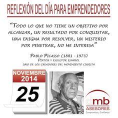 Reflexiones para Emprendedores 25/11/2014 http://es.wikipedia.org/wiki/Pablo_Picasso     #Emprendedores #Emprendedurismo #Entrepreneurship #Frases #Citas
