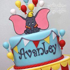 Dumbo theme birthday cake by K Noelle Cakes
