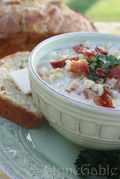 SUMMER SOUP~ Roasted Corn Chowder With Bacon And bonus Beer Bread Recipe