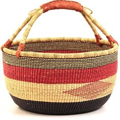 African Market Basket. I have two of these that my husband bought for me at Whole Foods. I love them and USE them. They are two of my treasures!