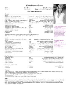 Acting Resume Beginner Prepossessing 8 Best Acting Images On Pinterest  Sample Resume Acting Resume .