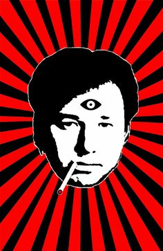 Bill Hicks third eye 11x17 poster Free by JaredSwartArtworks