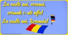 Felicitari de 24 Ianuarie - Hai sa dam mana cu mana ... La multi ani Romania! - mesajeurarifelicitari.com Romania, Outdoor Decor, Cosmetics, Blue