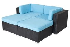 Soho 4-Piece Sofa Set, Turquoise