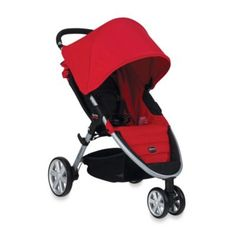 BRITAX B-Agile Stroller in Red - I think the car seat we have fits into this one...