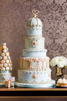 Over the top wedding cakes: http://www.stylemepretty.com/collection/2361/ #wedding #cake #cupcake #caketopper