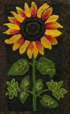 PR1444: Sunflower, Designed by Jane McGown Flynn, Adapted, Hooked by Susan Kleiden