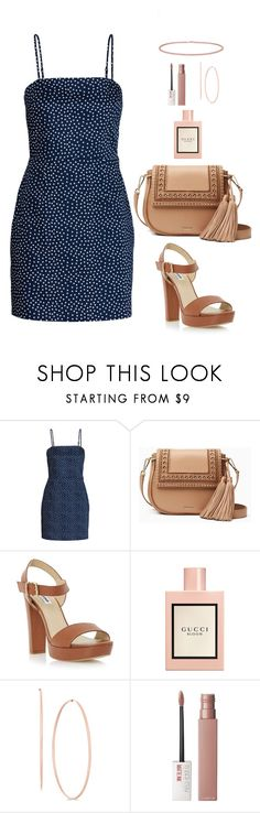 """Untitled #574"" by hayleyl22 ❤ liked on Polyvore featuring Kate Spade, Dune, Gucci, Maybelline and Anne Sisteron"