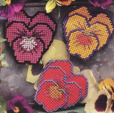Pansy Magnets Plastic Canvas Pattern by needlecraftsupershop, $3.50