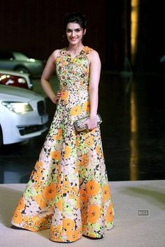 Actress Kriti Sanon picked an Andrew GN gown