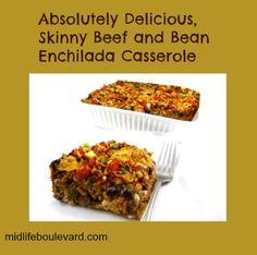 enchilada casserole, healthy recipe, healthy eating, weight watchers, weight watchers points @Skinny Kitchen