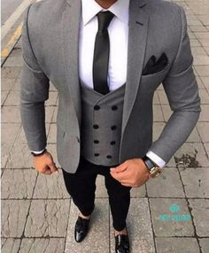 Clothing Type: Men's Suits Suits Type: Wedding Suit, Suit, Plus Size Suit Pant Closure Type: Zipper Fly Closure Type: Double Breasted Vest Sty. Terno Slim Fit, Prom Blazers, Plus Size Suits, Moda Formal, Look Man, Herren Outfit, Mens Fashion Suits, Fashion Night, Suit And Tie