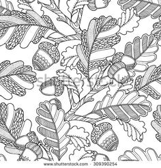 Seamless Pattern In Doodle Style Floral Ornate Decorative Tribal Vector Design Elements Coloring Book PagesVector