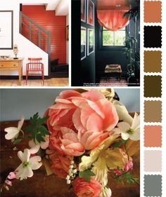 I've considered this for great room.  What I like the most is the peachy colors with white gray and midnight / dark blue.  Wonder if the browns would make it even better??