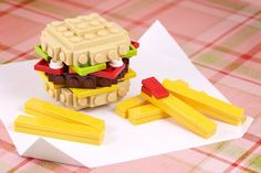 Lego Burger and fries (instructions at the link)