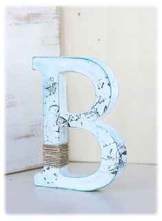 Rustic Wedding Cake Topper Letter B: Stand by WondermentByAnnia