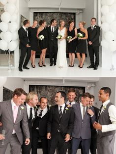 Black and white minimalist wedding   Very modern, slightly taboo with the balck and white but I love it