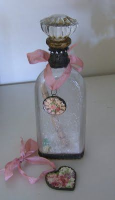 We will be creating a Glass Knob bottle topper. Mica and flowers and vintage paper will go inside before soldering the knob on it. Bling wil...
