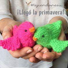 ¡Al fin llegó la #primavera por este lado del mundo! <3 #knit #spring #pajaritos #crochet #ganchillo