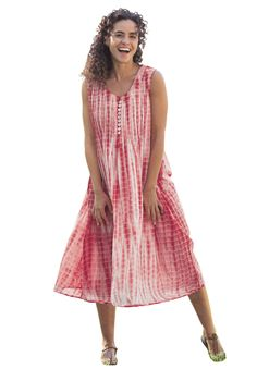 Dress, in tie-dye with pintucks   Plus Size Dresses & Skirts   Woman Within
