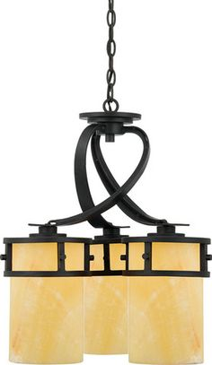 A rustic contemporary look that gives a dramatic flair to your home! #Chandelier