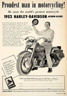 1951 Advert Harley Davidson Motorcycle Bike Milwaukee Wisconsin PSC1