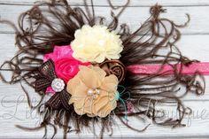 Ostrich Feather Custom Newborn Headband