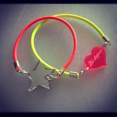 Elastic stars Neon Bracelet set of two by didepux on Etsy, €7.00